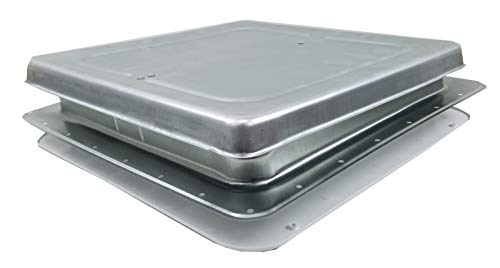 14' RV Roof Vent w/Low Profile Metal Lid 75111-C