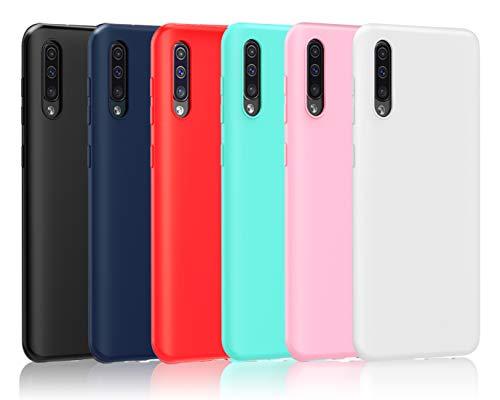 VGUARD 6 x Funda para Samsung Galaxy A50 / A50S / A30S, Ultra Fina Carcasa Silicona TPU de Alta Resistencia y Flexibilidad (Negro, Azul Oscuro, Rojo,Verde, Rosa, Transparente)