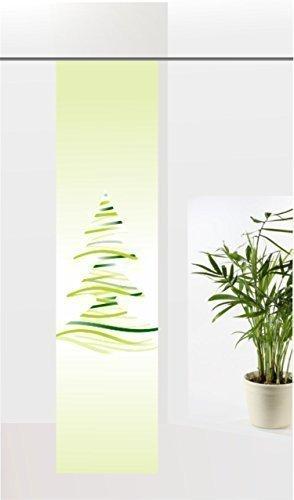gardinen-for-life Flächenvorhang Wave Christmas Green, Weihnachten Schiebevorhang mit Druck-Motiv, Gr.60x260 cm tolles Motiv