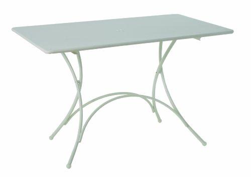 Emu 3609032300N, Pigalle tavolo pieghevole 903, 120x 76cm, acciaio verniciato a polvere, Bianco Opaco