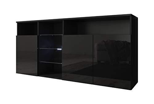 muebles bonitos Aparador Modelo Clark Color Negro