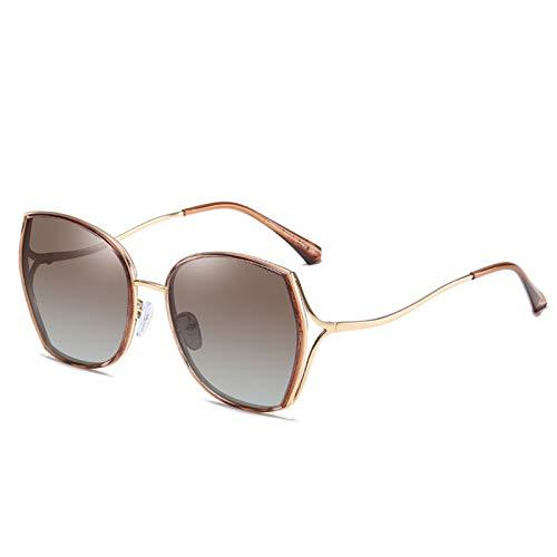 WWDKF Gafas De Sol, Gafas De Sol Polarizadas TAC De Montura Grande De Moda para Mujer, Gafas De Conducción De Ciclismo Y Pesca Deportiva De Moda,D