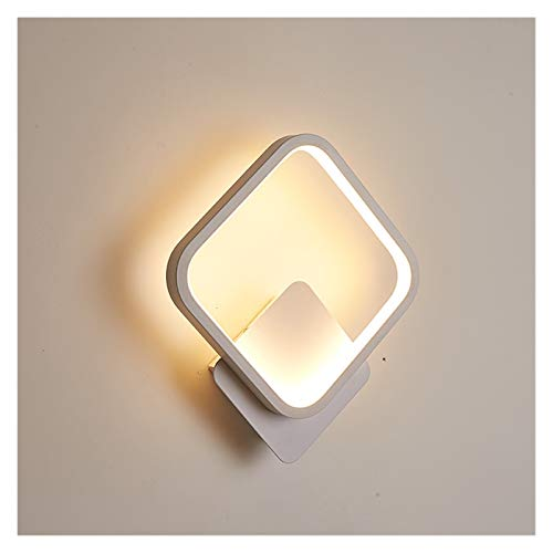 Drdcsad Wall lamp LED Wall Light for Living Room Indoor White Bedroom Bedside Home Foyer Stair Lighting Fixture wall mounted interior Sconce Lamp (Body Color : White, Color Temperature : Cool white)