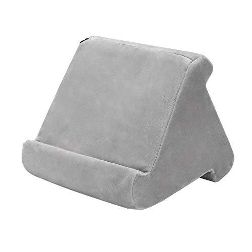 CUTICATE Weicher Kissenständer Tabletkissen Lesekissen Kissenhalter Tabletstütze Handy Ständerhalter - Grau