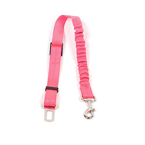 Anwasd7 veiligheidsgordel voor honden, veiligheidsgordel, reflecterend, met elastiek van polyester, Roze.