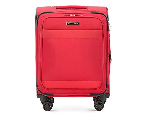 WITTCHEN Koffer – Handgepäck   Textil, Material: Polyester   hochwertiger und Stabiler   Rot   39 L   55x23x39 cm
