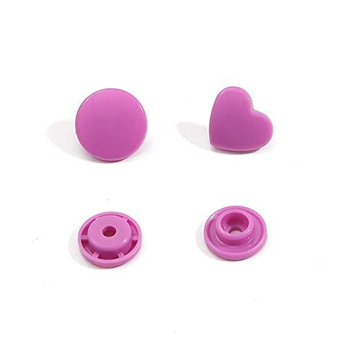 10/20sts Heart Button Button Sujetador Presione los Botones for Ropa de Ropa de bebé Botones Botones Prendas de Prenda Accesorios (Color : Black, Size : 10 Sets)