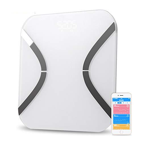 LHYCM Smart Weight Digitale weegschaal voor lichaamsvetten, voor het huishouden, elektronische vloerweegschaal, bluetooth