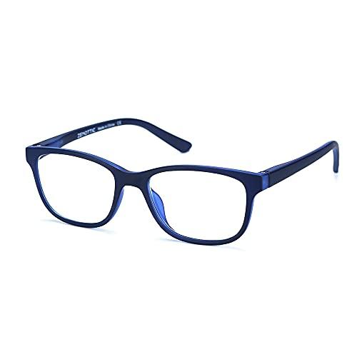 ZENOTTIC Gafas Infantiles de Bloqueo de Luz Azul para Ordenadores Gafas de Juego de Lentes Antirreflejos y Ligeros Protección de Ojos para Niños y Niñas (AZUL)