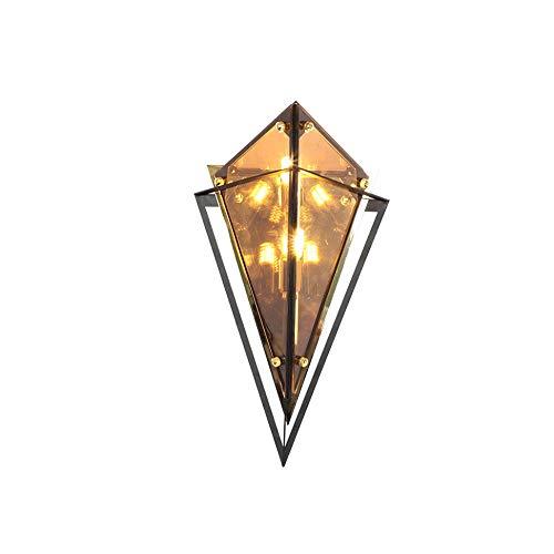Lámparas de pared de diamante posmodern, lámparas de cristal ámbar, accesorios de escoce nórdicos, hierro de metal G9, luces de pared de decoración de LED para sala de estar, pasillo de pasillo de pas