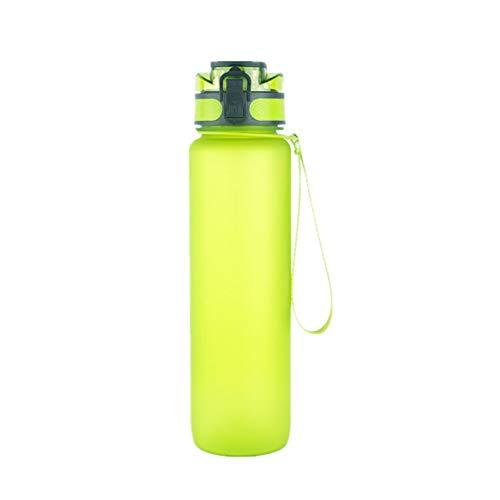 Large Water Bottle Running Water Bottle Shaker Bottle Gym Water Bottle Sports Water Bottle 1 Litre Water Bottle Plastic Bottles green,1000ml