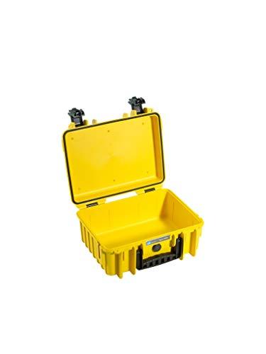 B&W Transportkoffer Outdoor Typ 3000 gelb - wasserdicht nach IP67 Zertifizierung, staubdicht, bruchsicher und unverwüstlich