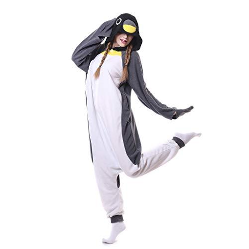 WANGLXPA Confortable Unisexe Adulte Homme Femme Combinaison Pyjama Animaux Polaire Grenouillère Déguisement Cosplay Costume Cadeau, M