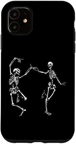 iPhone 11 Spooky Dancing Skeletons Macabre Skeleton Vintage Halloween Case product image