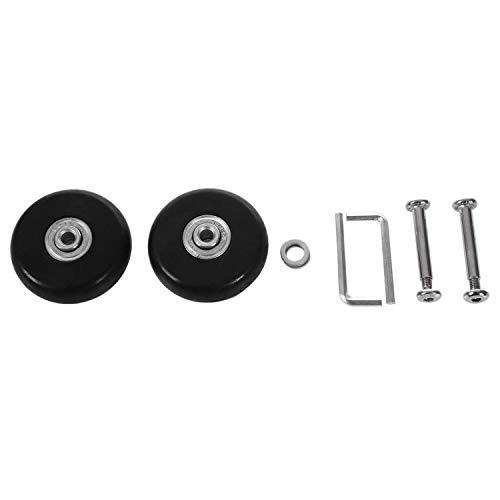 Gesh 2set 55 x 18 mm Maleta de equipaje/Ruedas de repuesto para patines al aire libre, color negro