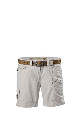 G.I.G.A DX Hira Casual Shorts mit Gürtel Femme, Blanc Cassé, FR : M (Taille Fabricant : 40)