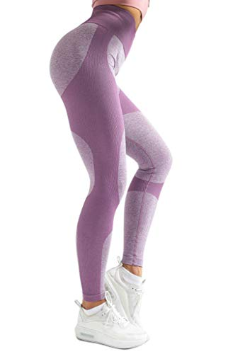 (44% OFF) High Waisted Workout Leggings w/ Tummy Control & Butt Lift $21.99 Deal