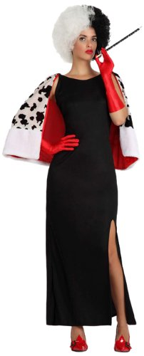 Atosa-15714 Disfraz Mujer Cruel, color negro, M-L (15714)