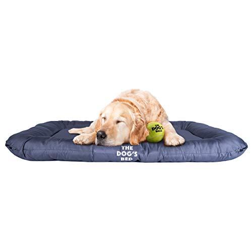 Het hondenbed, premium waterdicht hondenbed, XL 125x85cm, stoere YKK rits, wasbaar duurzame hoes