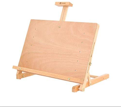 ZFFSC schildersezel, klaptafel naar boven, multifunctioneel bureau-schets, aquarel plank, instelbare hoekkunst, tekenplank, 33,5 x 48 cm