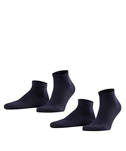 FALKE Herren Sneakersocken Happy - 85% Baumwolle, 2 Paar, Blau (Dark Navy 6375), Größe: 39-42