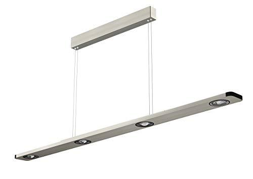 Evotec LIGHTWAVE LED Pendelleuchte 4-flammig / 2700K / 24W / 1440 Lumen, Aluminium, 24 W, Transparent, PL 1100
