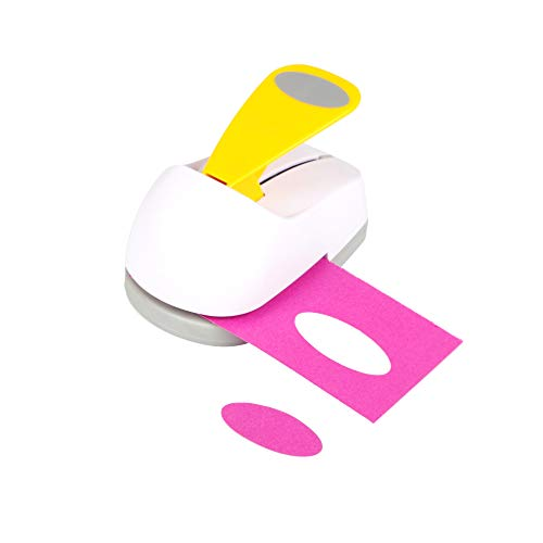 Craft Lever Punch 2 inch Oval Punch DIY Handmade Paper Punch 2inch Oval Shape(White)