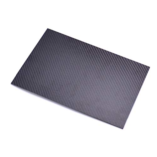FPVDrone Carbon Fiber Plate Sheet 125mm X 75mm X 3MM Thickness Pure Carbon Fiber Board