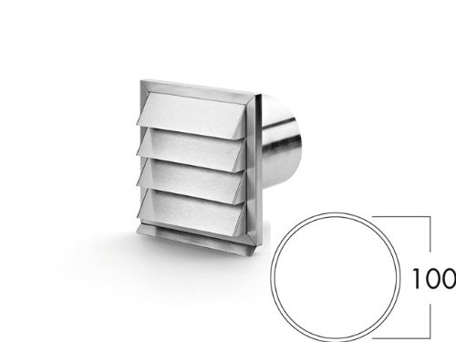 Naber COMPAIR® E-Jal 100er Außenjalousie aus Edelstahl mit Rückstauklappe