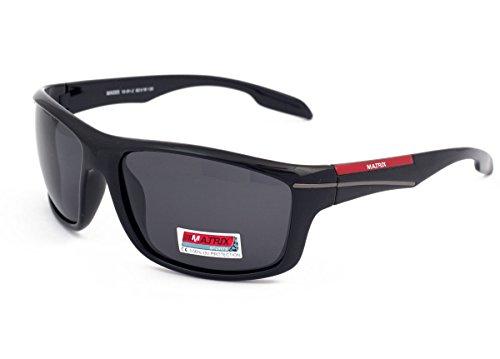 Matrix Sports mannen collectie gepolariseerde zonnebril voor rijden, vissen sport licht grijs lenzen Anti schittering zwart frame nieuw ontwerp