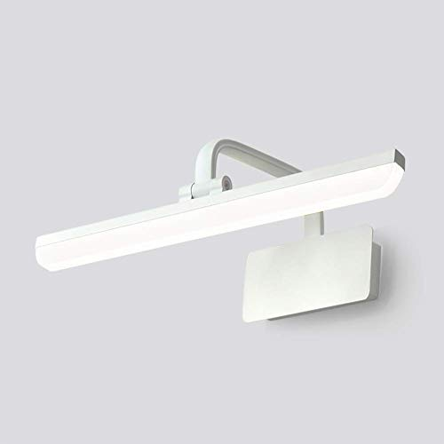 RRFFVV Led-Spiegel Scheinwerfer Bad Einfache Moderne Badezimmer Wc Spiegel Schrank Lampe Schminktisch Wandleuchte Kann Punch Spiegel Licht frei (Farbe : Weiß-L71cm)