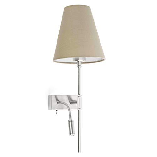 Faro Barcelona 29992 SABANA Lampe applique beige avec lecteur LED droite