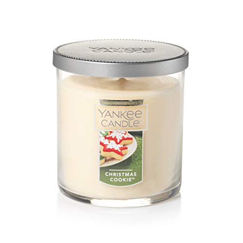 Yankee Candle Small Tumbler Jar Christmas Cookie Scented Premium Paraffin Grade Candle Wax with up to 55 Hour Burn Time