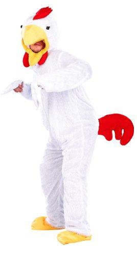 infactory Ganzkörperkostüm Tier: Halloween- & Faschings-Kostüm Verrücktes Hühnchen (Tierkostüme)