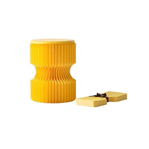 MYXMY Taburete de papel plegable Taburete doble de doble uso en casa Cambio de zapato portátil Cambio de zapatillas de taburete Heces de heces de heces de la estructura de la estructura de la estructu