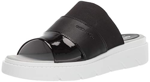 Geox Damen Tamas 3 Slide Sandalen zum Reinschlüpfen, Black Oxford, 39 EU