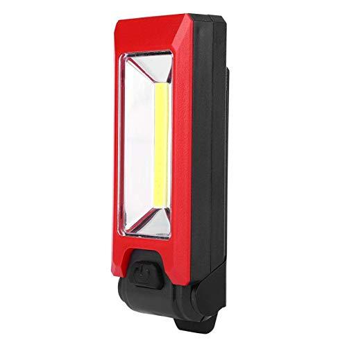 SALUTUYA Luz de Trabajo magnética Luz de Trabajo LED COB 3W Luz de Trabajo LED Lámpara magnética Impermeable de Alto Brillo para Colgar Durable para Caza, Transporte Diario, Patrulla,((Red))