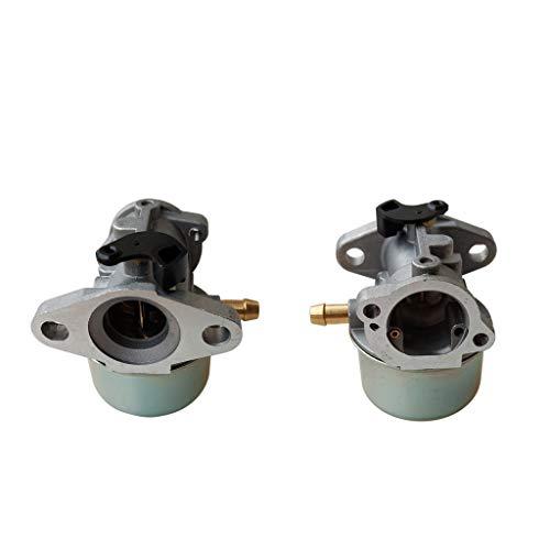 freneci 2xCarburador para Motor Briggs & Stratton 4hp, 5hp, 6hp, 6.75hp, 6.5hp, 7hp Cortacésped