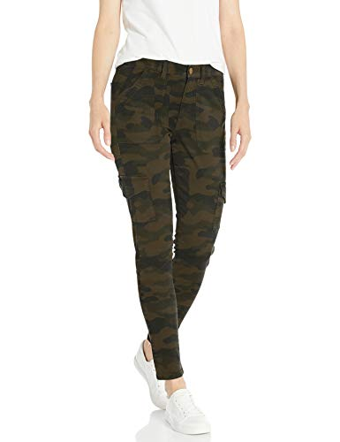 Daily Ritual Stretch Cotton/Lyocell Skinny Cargo pants, Olive Camo, 42 Label:10