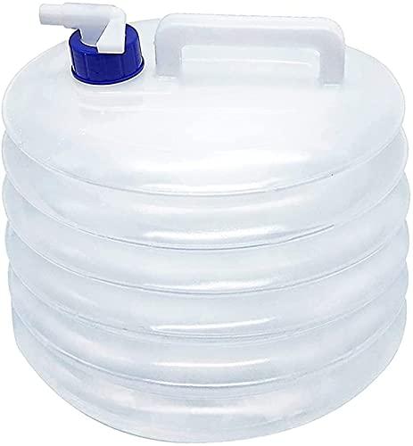 TXXM Zusammenklappbare Wasserbehälter tragbare Faltwasser-Eimer, Wasserspeicher Hohe Kapazität BPA-freier Wasserträger Wassertank für Camping Picknick BBQ Reise Gebrauch, Transparent, 10l