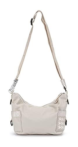 GEORGE GINA & LUCY Logo Nylon Propaganda Crossbody Bag Vanilla & Cream