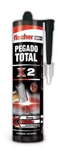 fischer - Pegamento extrafuerte para todo, Pegado total X2 en interiores y exteriores (300 ml)