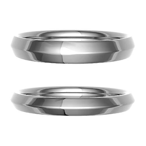 [ココカル]cococaru ペアリング 結婚指輪 K18ゴールド 2本セット マリッジリング 日本製 (レディースサイズ7号 メンズサイズ2号)