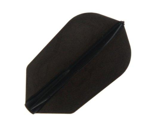 Cosmo Darts 6 Pack Fit Flight - Slim Dart Flight (Black)