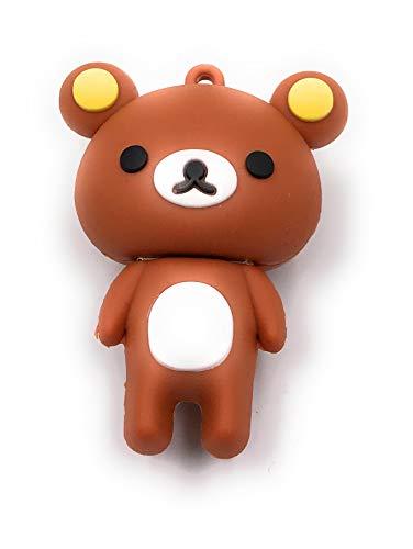 Onlineworld2013 Teddy Teddybär mit gelben Ohren süss stehend Funny USB Stick 16 GB USB 2.0