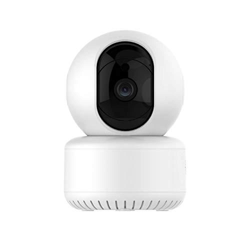 Telecamera di sorveglianza rotante WiFi integrata, risoluzione HD 1080p, audio bidirezionale, rilevamento intelligente del movimento, WiFi 2,4 GHz, LED a infrarossi, visione notturna, PTZ