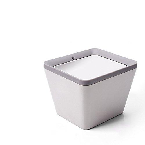 Mini Mülleimer, Tischmülleimer, Schreibtisch Papierkorb mit Schwingdeckel , Desktop Schütteln Mülleimer, Komposteimer mit Deckel Küche, spülmaschinenfest