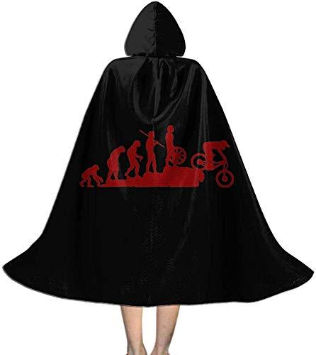 Secutoryang Interesting Mountain Bike Mens Halloween Cloak with Hood Fancy Cool Cosplay Costume Printed