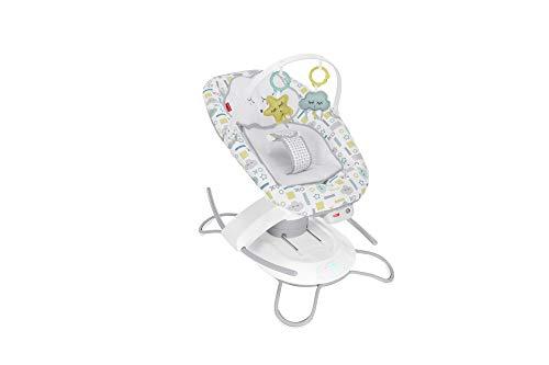 Fisher-Price GWD46 - 2-in-1-Glider mit Smart Connect elektrischer Babysitz und Wiege mit 2 Wiegebewegungen, Babyausstattung ab Geburt