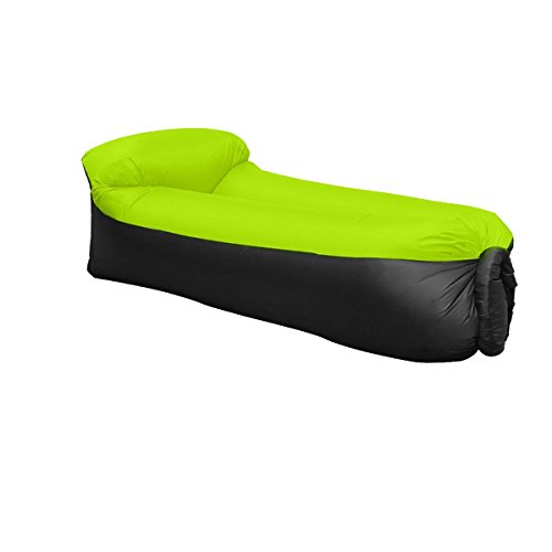 JINGOU - Tumbona hinchable con bolsa de transporte para piscina, acampada, playa,...